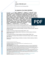 The Diploid Genome Sequence of an Asian Individual - Wang