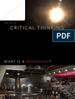 Workshop 1 the Art of Critical Thinking PPT PDF