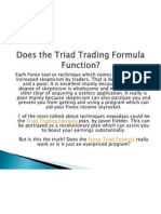 Does the Triad Trading Formula Function