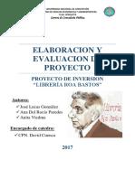 Elaboracion y Evaluacion de Proyecto