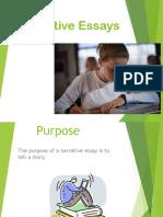 Narrative Essays Powerpoint