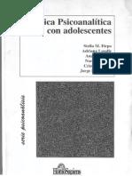 Clinica Psicoanalitica Con Adolescentes Firpo Stella Et Al