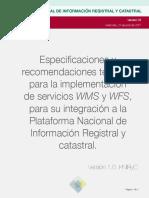 Recomendaciones Servicios WMS y WFS