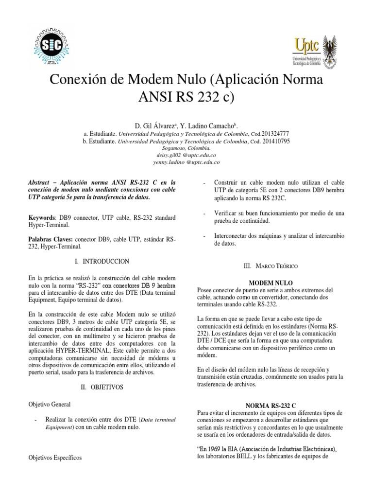 Conexión Modem Nulo