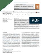 Efectos de los Pulsos eléctricos en los extractos de espinaca