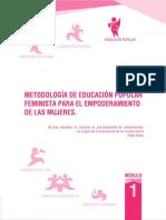Metodologia de Educacion Popular Feminista Para El Empoderamiento de Las Mujeres