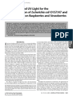 Efficacy of Pulsed UV-Light for the Decontamination of Escherichia coli O157:H7 and Salmonella spp. on Raspberries and Strawberries
