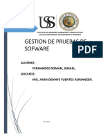 Gestion de Proceso de Pruebas sofware ISOII