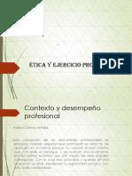 Diapositiva Ética y Ejercicio Profesional