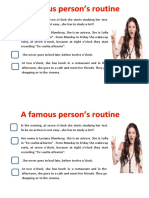Famous Person Routine
