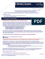 EdUSA Weekly Update No 193 August 23 2010