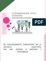 La Intervenciòn en El Contexto Sociocomunitario Exposicion