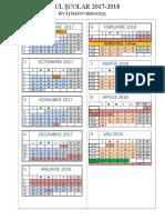 Calendar Gimnaziu