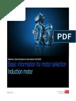Presentation Basic Information for Motor Selection ABB