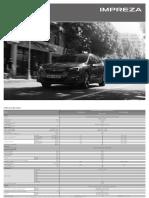 Scheda Tecnica Subaru Impreza 2018