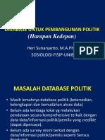 Membangun Data Base Politik Kesbangpol 2015