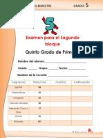 Examen 5° Grado Bloque 2