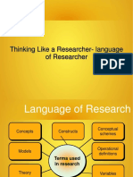 Thinking Like a Reasearcher