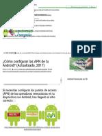 ¿Cómo Configurar Las APN de Tu Android_ (Actualizado, 2017) » Android Venezuela