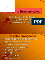 Overview Obstetric Emergencies RWH 2007