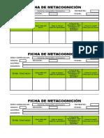 Ficha de Metacognición