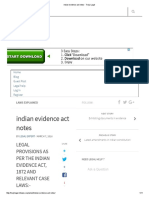 Indian Evidence Act Notes - Truly Legal