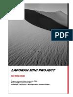 Notulensi Presentasi Mini Project