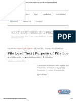 Pile Load Test _ Purpose of Pile Load Test _ Best Engineering Projects