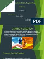Cambio Climatico Ecologia