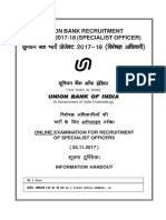 Union Bank Credit Officer Writtern Exam Official Information Handout 2017