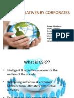 Csr activities by Companies.