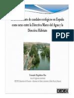 10 - Establecimiento de Caudales Ecologicos en España, Nexo Entre DMA y Directiva Habitats(FM) Tcm7-217484