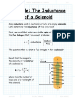 Example the Inductance of a Solenoid