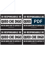 So Responsabile de Queo Che Digo