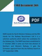 RRC NWR Recruitment 2018