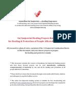 Comprehensive 32 Page Document on Sai Sanjeevini Healing Seva During Calamities