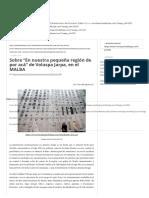 Sobre _En Nuestra Pequeña Región de Por Acá_ de Voluspa Jarpa, En El MALBA - Revista Punto de Fuga