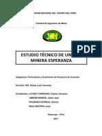 ESTUDIO TÉCNICO DE UNIDAD MINERA ESPERANZA