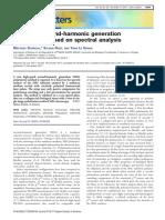 Snapshot second-harmonic generation polarimeter based on spectral analysis