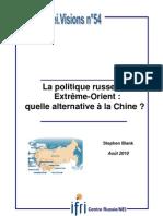 La politique russe en Extrême-Orient