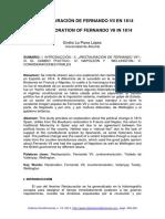 Emilio La Parra - La restauración de Fernando VII en 1814