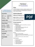 CV Of Civil