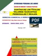 Garantías de Los Títulos Valores Garantías Personales y Reales.