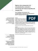 Algunos Retos y Propuestas en La Concep, Ev e Intervencion Del TEL