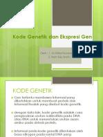 Kode Genetik Dan Ekspresi Gen