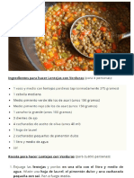 Lentejas Con Verduras - Javirecetas
