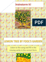 Lemon Tree Lesson