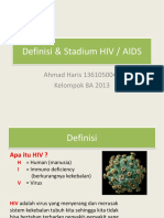 Definisi & Staging Hiv (Kelompok 8a 2013)