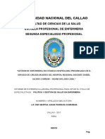 Informe Experiencia Profesional Gestion de Enfermeria en Estancia Hospitalaria 22 Julio Final