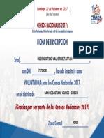 Certificado de Inscripcion Al INEI